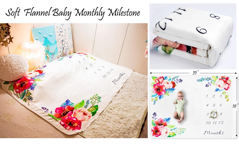 Soft Flannel Baby Montyly Milestone