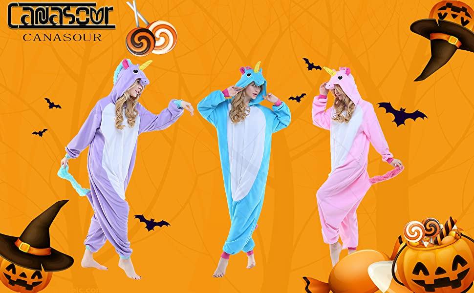 womens unicorn halloween christmas cosplay onesies