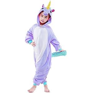 purple kids unicorn costume