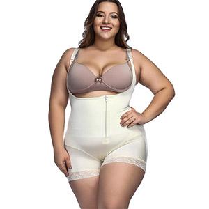 Fednon Women S Tummy Control Shapewear Open Bust High Waist Ladies Bodysuits Plus Size Body Shaper