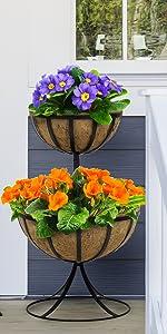 2 tier planter stand