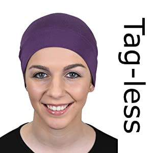 tagless hat for women with hair loss chemo cap
