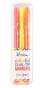 Colorful Dual-Tip Markers
