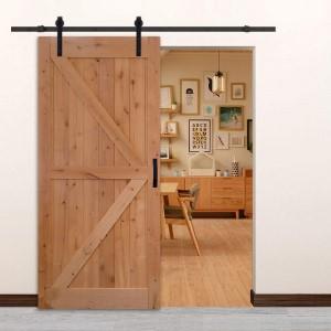 38in 84in solid wood barn door with hardware
