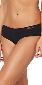 Boody body organic bamboo cheeky underwear panties panty low rise wide band