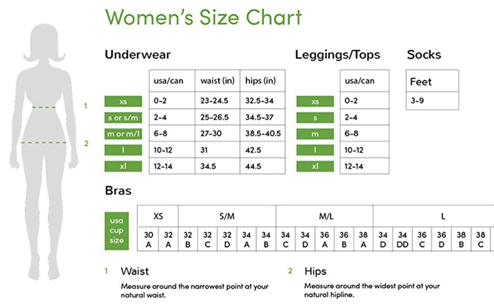 Boody Women Size Chart