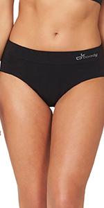Boody Body bamboo organic mid rise midi panties underwear underware full coverage