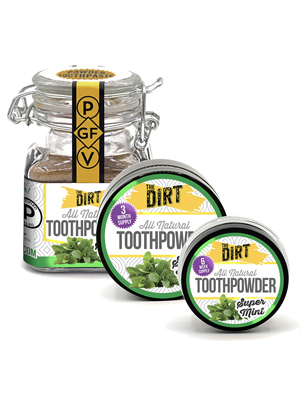 The Dirt toothpowder tooth powder muddy mouth magic