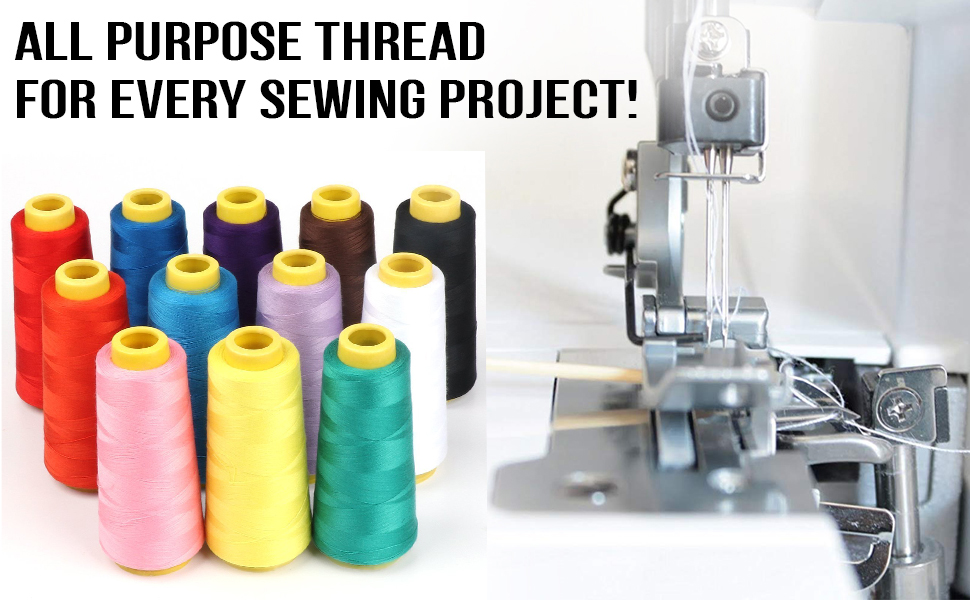 Polyester thread is perfect for embroidery, applique, needle crafts and DIY crafts, serger, machines