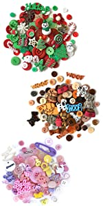 Round Buttons and Embellishments by Themes Collection
