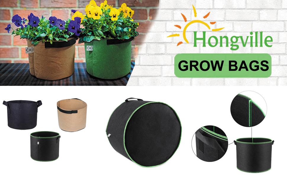 Fabric Aeoration Grow Bag, Plant Container, Grow Pot, Garden Pot, Nonwoven Plant Fabric Pots