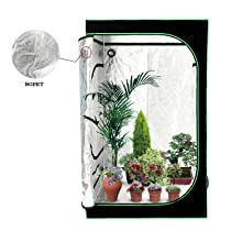 Hongville reflective Mylar hydroponics grow tents are an excellent choice for growers