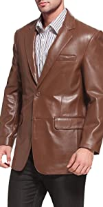 BGSD Men's Richard Classic Lambskin Leather Blazer