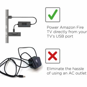 Mission USB Power Cable for Fire TV