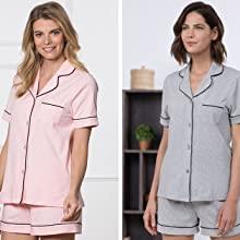 pajama short sets women