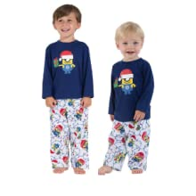 toddler and infant wearing pajamas