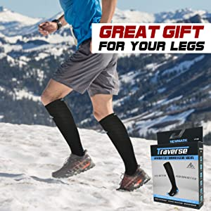 Running on summit with Compression Socks