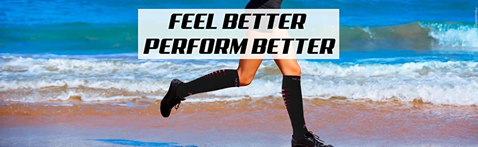 Newmark Compression Socks (Running on the Beach)