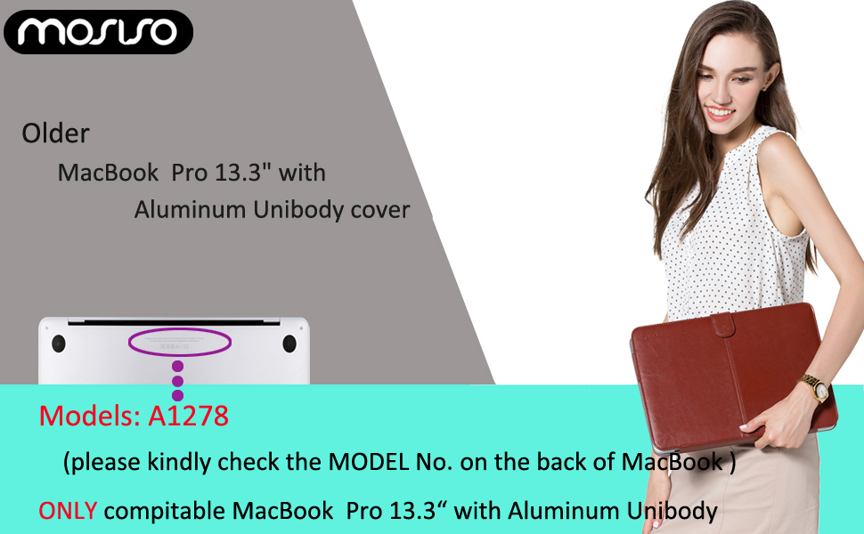 MacBook Pro 13 A1278 PU Leather Case