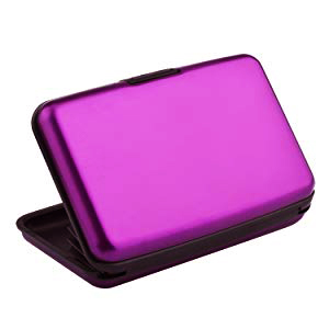 purple card wallet