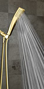 polished brass shower head with hose gold finish handheld shower head with hoses spray handle wand