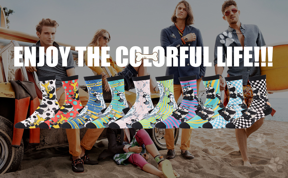 colourful socks, colourful life