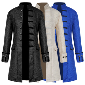 this costume has three color,black,blue and white