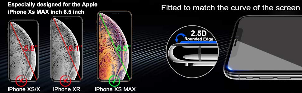 for iPHone XS MAX Screen Protector7