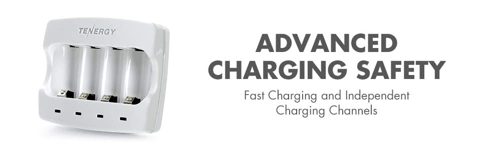 Advanced charging safety with fast charging and independent charging channels