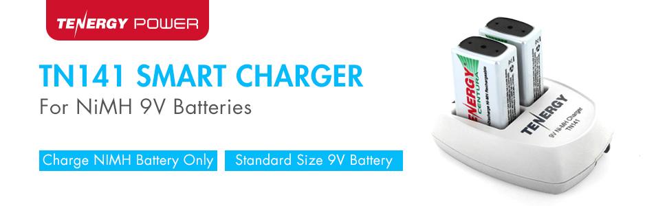 TN141 smart charger for NiMH 9V batteries