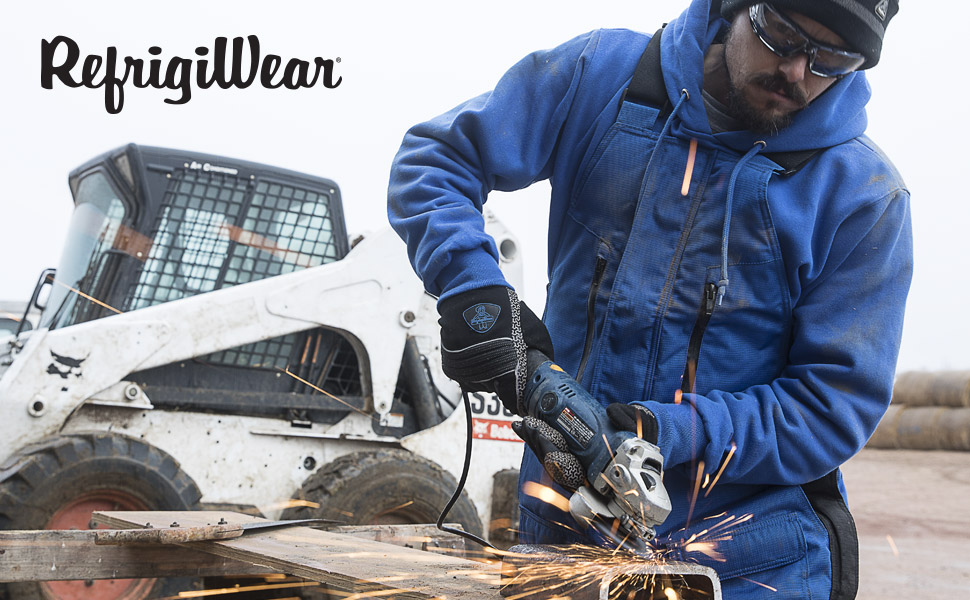 Working in cold weather refrigiwear 9487R thermal lined hoodie