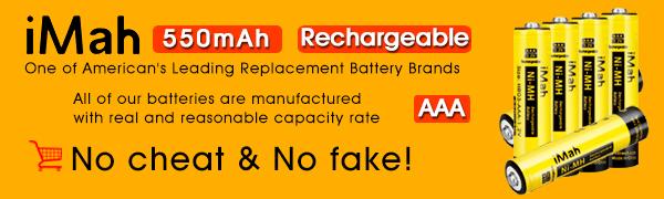 AAA Rechargeable Batteries Compatible with Panasonic Cordless Phone Battery 1.2V 400mAh BK40AAABU