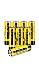 8-Pack iMah HR6 1.2V 1800mAh AA Rechargeable Batteries