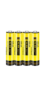 4-Pack iMah HR03 1.2V 550mAh AAA Rechargeable Batteries