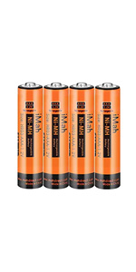 4-Pack iMah HR03 1.2V 750mAh AAA Rechargeable Batteries