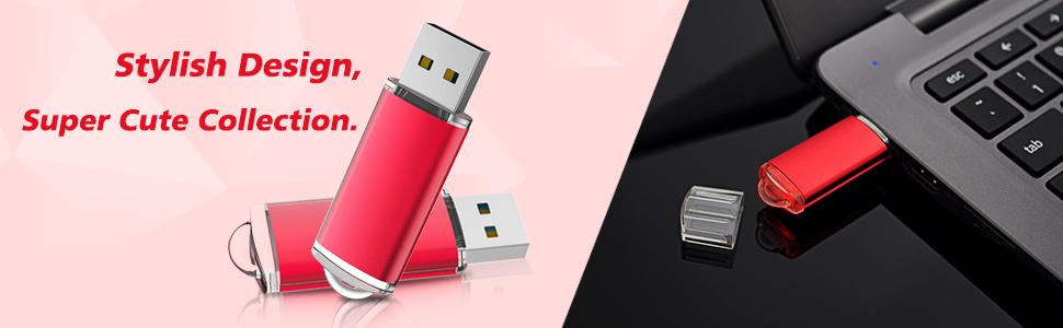 red flash drives usb bulk pack