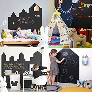 Decor your kids' bedroom with this chalkboard.