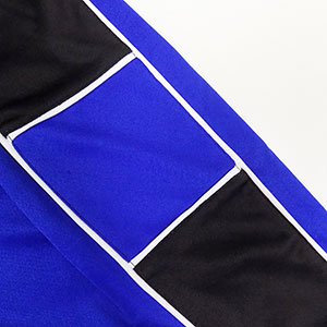 Nova soccer uniform piping closeup