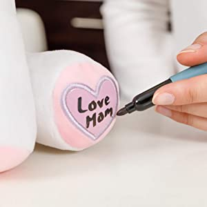 writeable heart paws for special messages