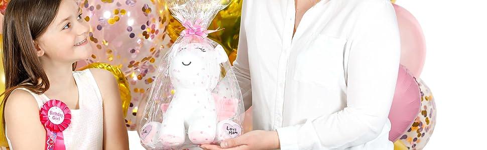 Gift Wrapped Ready Unicorn Stuffed Animal