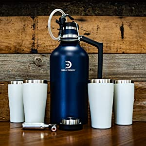 DrinkTanks Beer Growler Insulated Cups