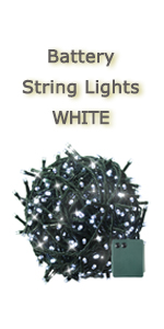 battery white string light dark green wire