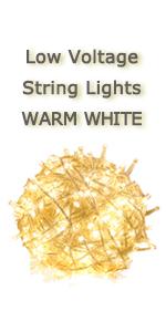 low voltage string light transparent white wire