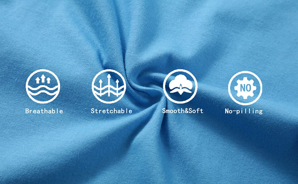 Breathable  Stretchable    Smooth&Soft   No-pilling