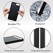 protective and shockproof iphone 8 plus, 7 plus, 6 plus phone case