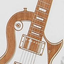 white iphone 8plus, 7 plus, 6plus hard rock guitar phone case