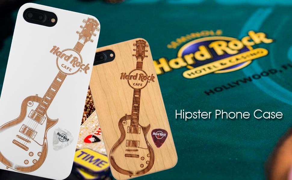Hard Rock Guitar iPhone 8 case, iPhone 7 case, iPhone 6/6S case wood