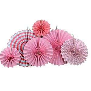 Paper fan flowers