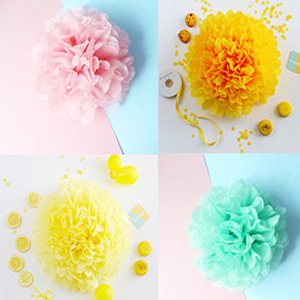 Tissue flowers and honeycomb balls