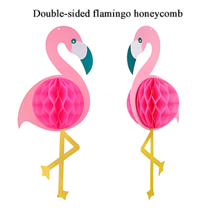 Flamingo honeycomb ball
